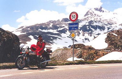 June 10, 1996 - Grimselpass, Switzerland.  The Grimselpass (2165 m asl) lies between the towns of Gletsch in the South and Innertkirchen in the North.