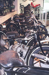 June 04, 1997 - Deutsches Museum, München, Germany.  This is the technical museum of all technical museums, period. You name it; it's there. With a floor area of over 46,000 square meters, I've been told that it would take about four weeks to see it all in detail. The motorcycle displays are quite extensive.