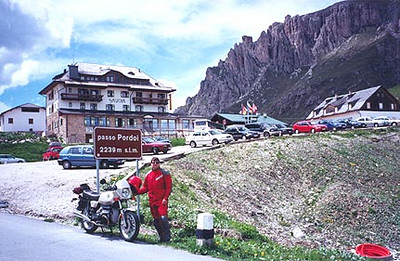 June 17, 1997 - Passo Pordoi, Italy.<br /> <br /> Passo Pordoi (2239 m asl) lies just West of the town of Arraba, also a good home base if you choose to take a Bed and Breakfast there.