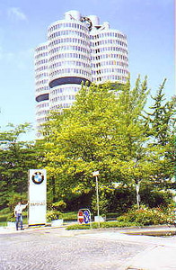 June 27, 1998 - BMW Headquarters, München, Germany.  This is the company I should have worked for all along. With five BMWs and German fluency, it would have been paradise. I'd work for gas money just to live in a country where drivers know how to drive and know what the left lane is for. Isn't it for passing or something like that?