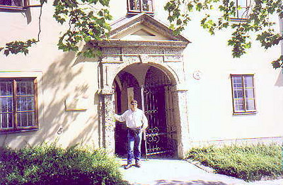 June 30, 1998 - Salzburg, Austria.  The entrance to Stift Nonnberg, the abbey adjacent to Festung Hohensalzburg (castle). Does the Sound of Music ring a bell?
