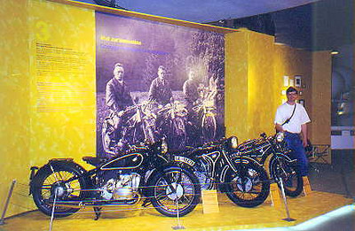 June 27, 1998 - BMW Museum, München , Germany.  One of the numerous displays dedicated to the 75th anniversary of BMW motorcycles.