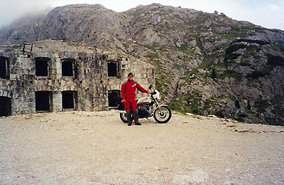 June 29, 1999 - Passo Valparola, Italy.<br /> <br /> Passo Valparola (2192 m asl) is part of the horizontal figure eight loop of passes between the town of Cortina d'Ampezzo in the east and Canazei in the west. This fort dates back to WWI.