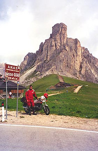 June 29, 1999 - Passo Giau, Italy.  Passo Giau (2233 m asl) is located on route 638, 11 kilometers down the road from Pocol, Italy.