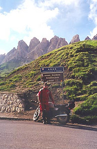 June 29, 1999 - Passo Gardena, Italy.<br /> <br /> Passo Gardena (2137 m asl) is part of the horizontal figure eight loop of passes between the town of Cortina d'Ampezzo in the east and Canazei in the west.