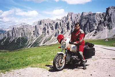 June 16, 2000 - Passo Giau, Italy.  A view in another direction from Passo Giau (2233 m asl).