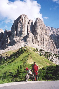 June 16, 2000 - Passo Gardena, Italy.<br /> <br /> This photo was taken between Passo Gardena and Corvara, Italy.