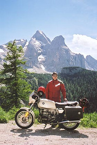 June 16, 2000 - Passo Fedaia, Italy.  This photo was taken one kilometer past the top of Passo Fedaia while enroute to Canazei, Italy.