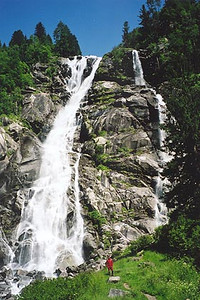 June 22, 2000 - Val Genova, Carisolo, Italy.  These falls are located about half way into Val Genova from the town of Carisolo.