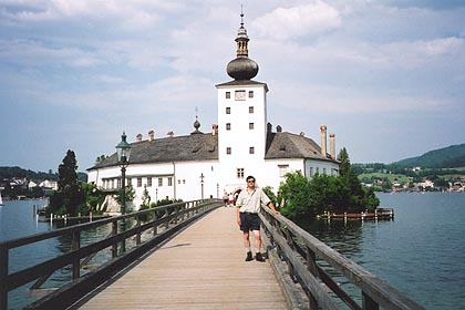 June 11, 2000 - Schloss Ort, Gmunden, Austria.<br /> <br /> Gmunden is located on the north end of Traunsee, one of a series of lakes east of Salzburg. From Gmunden, a narrow road runs part way along the lake's east shore to the town of Ramsau, where at the Gasthof Ramsau, a Ramsauer Spitz should not be passed up for those with a sweet tooth.