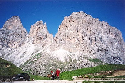 June 17, 2000 - Passo Sella, Italy.  This photo was taken between Passo Sella and Passo Gardena while on a day tour to ride the Würzjoch, Jaufenpass and Penser Joch.