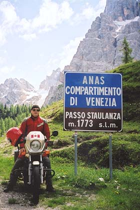 June 14, 2001 - Passo Staulanza, Italy.<br /> <br /> Passo Staulanza (1773 m asl), one of the many passes in the Dolomites region near Cortina d'Ampezzo. This is one area I have driven year after year. I never miss using it to get me from one area to another.
