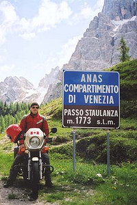 June 14, 2001 - Passo Staulanza, Italy.  Passo Staulanza (1773 m asl), one of the many passes in the Dolomites region near Cortina d'Ampezzo. This is one area I have driven year after year. I never miss using it to get me from one area to another.