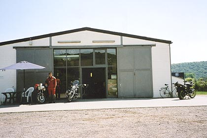 June 26, 2003<br /> Wunderlich, Sinzig-Bad Bodendorf, Germany.<br /> <br /> Wunderlich's storefront doesn't give one the impression that a lot of well crafted motorcycle accessories can be had here. For 2004, they have moved to another location in the same area. They produce a very nice catalog.