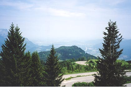 June 11, 2003<br /> Rossfeld Ringstrasse, Berchtesgaden, Germany.<br /> <br /> The Rossfeld Ringstrasse (toll) offers a great view of the Alps and Salzburg. It can be reached from the towns of Berchtesgaden, in Germany and Hallein and Salzburg, in Austria. My choice is the road from Hallein.