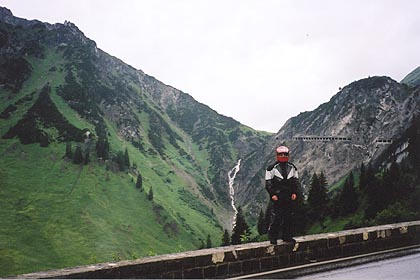 June 15, 2003<br /> Flexenpass, Austria.<br /> <br /> The Flexenpass (1784 m asl) is one of a series of passes in the western half of Tirol and Vorarlberg. The others being the Hahntennjoch (1884 m asl), the Hochtannberg (1676 m asl), the Faschinajoch (1486 m asl), the Furka Joch (1761 m asl) and the Gaichtpass (1093 m asl). I found the east approach to the Hahntennjoch very similar to the east approach to the Mendlepass in Italy.