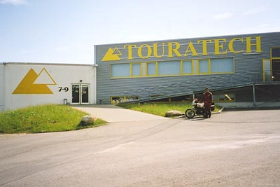 June 23, 2003<br /> Touratech, Niedereschach, Germany. <br /> <br /> The all too well known facilities of Touratech. My route took me nearby, and it was well worth the visit. They produce a very nice catalog available in different languages.