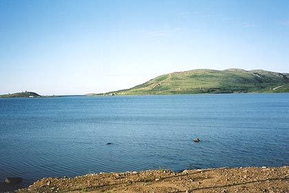 August 20, 2003<br /> Red Bay, Labrador.<br /> <br /> The view from my Bed & Breakfast. Red Bay is the end of the paved road that starts in the south at Old Fort Bay in Quebec. From Red Bay to Cartwright there are 330 kilometers of gravel road.