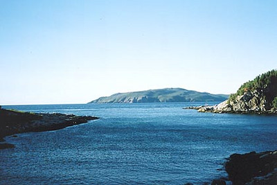 August 19, 2003 Englee, Newfoundland.  This priceless view of Canada Bay was taken from the window of my Bed & Breakfast.