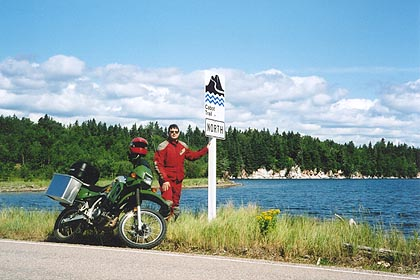 August 15, 2003<br /> Cabot Trail at S. Gut St. Anns, Cape Breton, Nova Scotia.<br /> <br /> The Cabot Trail is a must do for motorcyclists. Make sure you do the route in both directions, while taking some time to take in the sights.