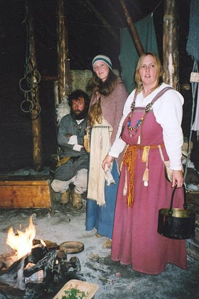 August 18, 2003<br /> L'Anse aux Meadows, Newfoundland.<br /> <br /> What the Viking settlers may have dressed like some 1000 years ago.