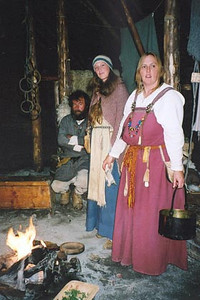 August 18, 2003 L'Anse aux Meadows, Newfoundland.  What the Viking settlers may have dressed like some 1000 years ago.