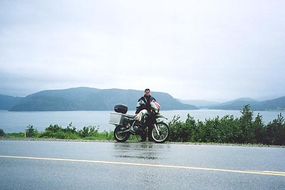 August 17, 2003 Gros Morne National Park, Newfoundland.  After six days of perfect weather, it was bound to rain. Newfoundland, being surrounded by water, makes rapidly changing weather a given.