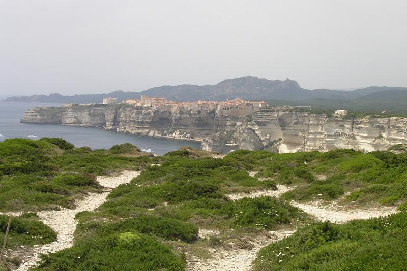 June 20, 2006 - view of Bonifacio, Corsica.<br /> <br /> GPS<br /> N41° 22.870'  E009° 10.431'