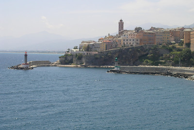 June 15, 2006 - Bastia, Corsica.  Arriving in the port of Bastia, Corsica on the Moby Lines ferry at 1300.