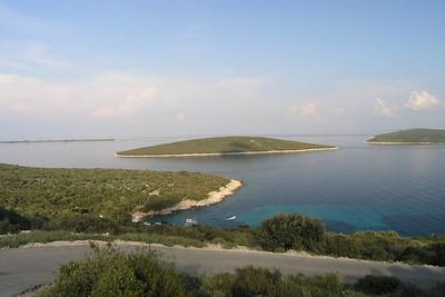 June 13, 2007 - on the southern tip of the island of Lošinj, Croatia  The islands of Kozak (left) and Sv Petar (right).