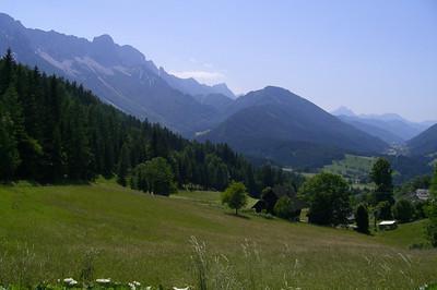 June 20, 2007 - Schaidasattel, Austria  The view west from the Schaidasattel along the Austrian-Slovenian border.