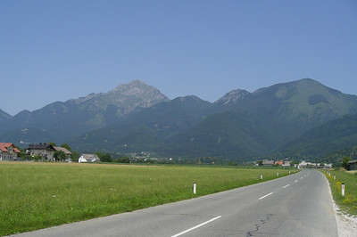 June 20, 2007 - Hotemaže, Slovenia  On the 210 just past the dogleg turn in the town of Hotmaže on my way up to the Seebergsattel on the Slovenian-Austrian border.