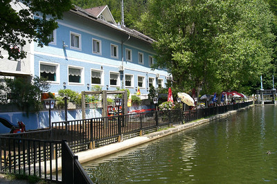 June 19, 2008 - Cafe-Restaurant Thalersee, Thal, Austria.  Arnold Schwarzeneggers childhood hangout in his hometown of Thal.  GPS N47° 04.298' E015° 21.913'