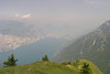 June 26, 2008 - Monte Baldo, Italy.<br /> <br /> The view down onto Lago di Garda with the town of Riva del Garda at the far end.<br /> <br /> Just 90 kilometers in the direction of that white cloud to reach Passo dello Stelvio.<br /> <br /> GPS<br /> N45° 46.878' E010° 51.732'
