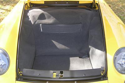 The luggage compartment in my 1995 Porsche Carrera.
