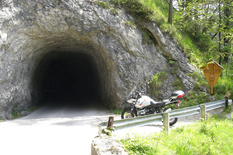 June 05, 2009 - Strumklamm Strasse, Austria.<br /> <br /> Heading east towards Faistenau, you'll come across this short narrow tunnel.