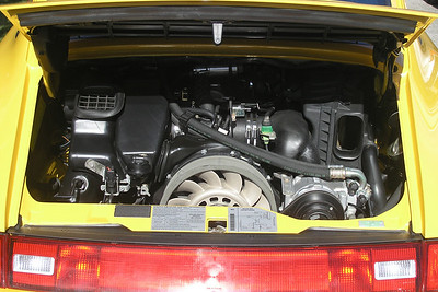 The engine compartment after a bit of detailing in my 1995 Porsche Carrera.