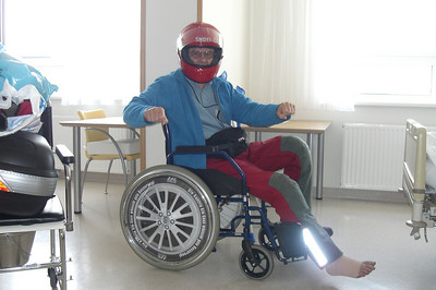 June 17, 2009 - Krankenhaus St. Josef, Braunau am Inn, Austria.  Departing to pick up my motorcycle and to stop by at the police station for a statement.  A German friend who I had met years ago while in Italy came to pick me and my motorcycle up.
