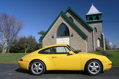 Being hit and watching the Bucket List made me do it.  I decided to live out one of my long time dreams and buy that Porsche Carrera I've always wanted.  I lucked into this ultra mint, low mileage 1995 Porsche 911 Carrera (993).