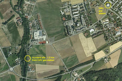 Accident Site - Satellite View Best viewed in Original size.