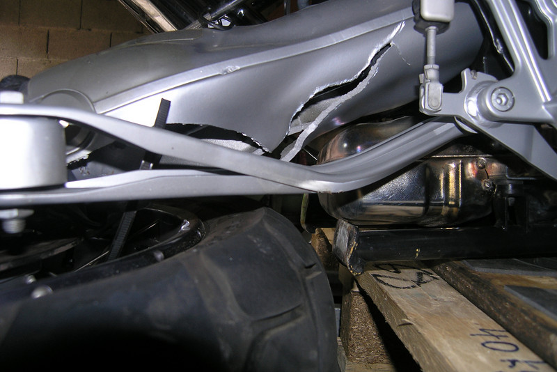 June 19, 2009<br /> <br /> The cast swingarm, or whatever is left of it.