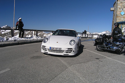 June 05, 2010 - Grossglockner Hochalpenstrasse, Austria.  A Porsche Carrera 997 on roads they belong on.