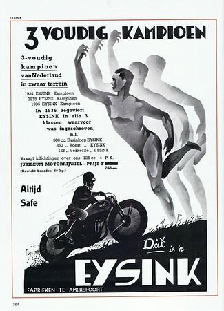 Vintage motorcycle posters, race announcements, etc