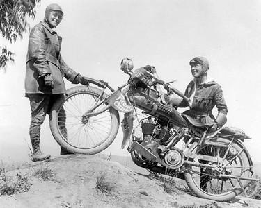 Augusta & Adeline Van Buren Vintage moto rider