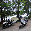 Our campsite in the Adirondacks made up for the one the night before.