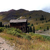 Animas Forks ghost town.  This is the Walsh house, noted for its bay window.