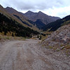 The road up to the mining ghost town of Animas forks.
