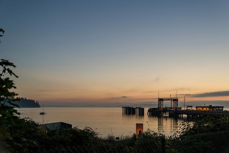Sunrise Waiting for the Ferry to Vashon.