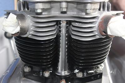 1963 Bonneville engine and frame (sold to UK)