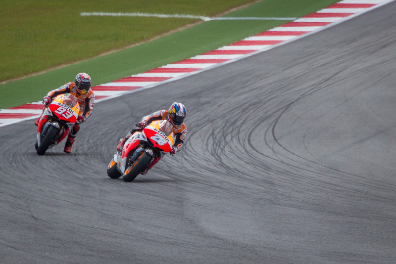 That's Marquez #93. The youngest rider to ever win a MotoGP, and it happened that day in Austin.
